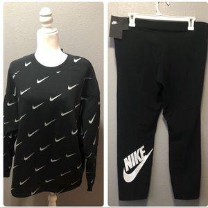 NWT Nike Logo Sweatshirt and Pants Bundle